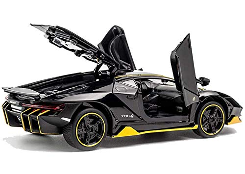 METRO TOY'S & GIFT 1: 32 Alloy Lamborghini Centenario LP 770-4 Model Alloy Sports Car Diecast Model Sound and Light Pull Back Cars Toys, Black