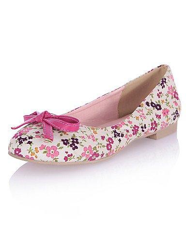 Femme Rond us8Eu39 Pink Plat Uk6 Tissu Talon chaussures rose Bout Cn39 Appartements Pdx Bleu Décontracté nwk80OP