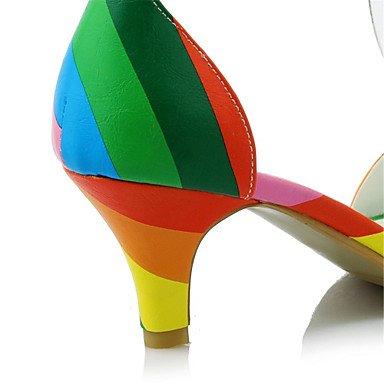 LvYuan Tacón Stiletto-Confort Zapatos del club-Sandalias-Oficina y Trabajo Vestido Informal-Terciopelo Materiales Personalizados Semicuero-Negro Pink