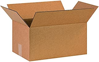 "product image for Partners Brand P16108 Corrugated Boxes, 16""L x 10""W x 8""H, Kraft (Pack of 25)"