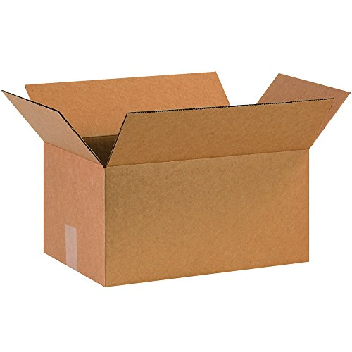 BOX USA B16108100PK Corrugated Boxes, 16'' L x 10'' W x 8'' H, Kraft (Pack of 100) by BOX USA