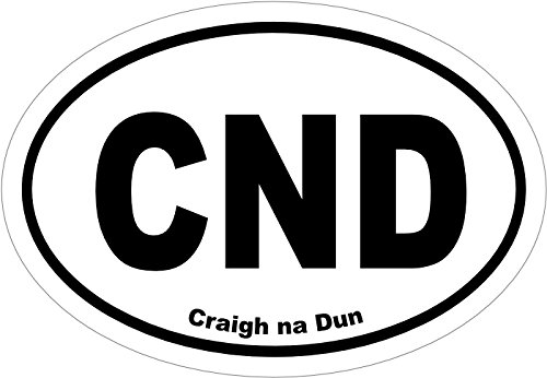 CND - Craigh Na Dun - Outlander Inspired Custom White Oval Car Decal for Sassenach 5 X 3 Inch
