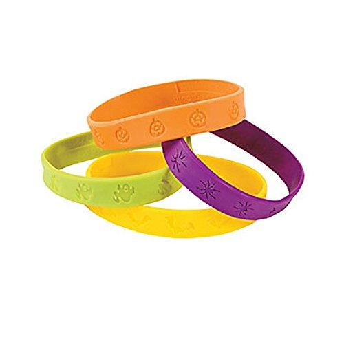 Rubber Halloween Imprint Bracelet (Pack of (Halloween Rubber Bracelet)