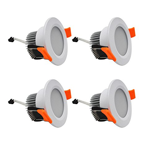 LED Downlight ZDPCYT DC 12V 3W Down light Recessed Ceiling Lamp 6000-6500K Cool White Fixture With Driver Pack of 4(Not Including 110/220-12V Power Adapter)… (12V Cool (220 Four Light)