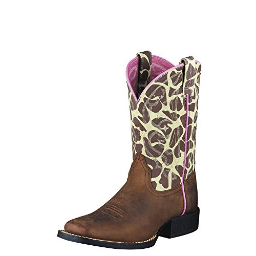 Ariat Quickdraw Western Boot , Brown Pull Up/Giraffe Print,