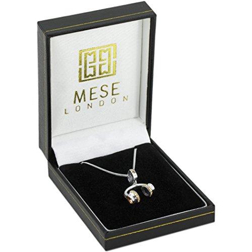 MESE London Collier London DJ Casque D'écoute 925 Sterling Silver Headphones Pendentif - Coffret Cadeau Élégant