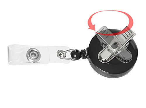 Retractable Extension Cord Reel >> Retractable Badge Holder ID Card Holder Reel with SWIVEL ...