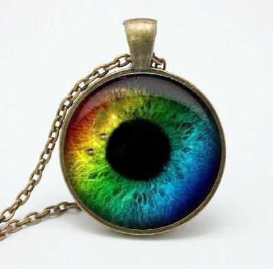 Amazon rainbow eye necklace third eye evil eye charm eyeball rainbow eye necklace third eye evil eye charm eyeball pendant mozeypictures Image collections