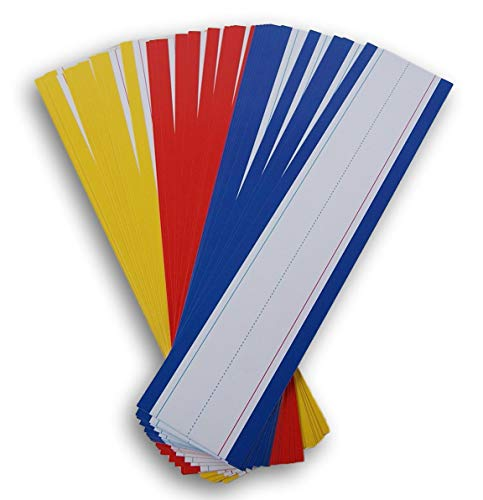 - Teaching Tree Writing Practice Word Strips - 30 Count (Yellow/Blue/Red)