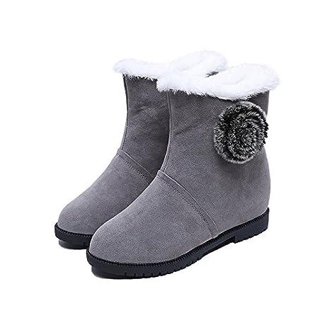 donna stivali Autunno Scarpe tacco Inverno Comfort basso tessuto TzqwFx6