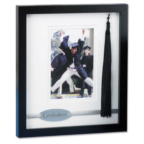 - Lawrence Frames Black Wood Dbl Mat 4x6 Graduate