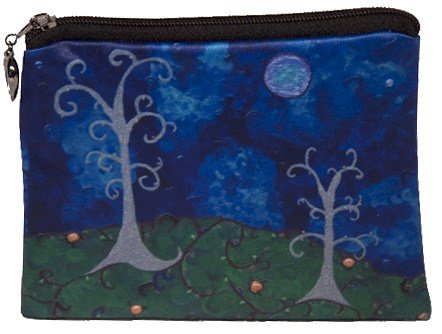 - Salvador Kitti Change Purse, Vegan Coin Purse - Animals - from My Original Paintings - Support Wildlife Conservation, Read How (The Couple - Trees)