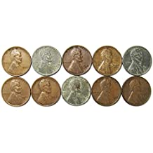 1940-1949 Lot of 10 Wheat Cents - Different Dates/Mint Marks/Grades