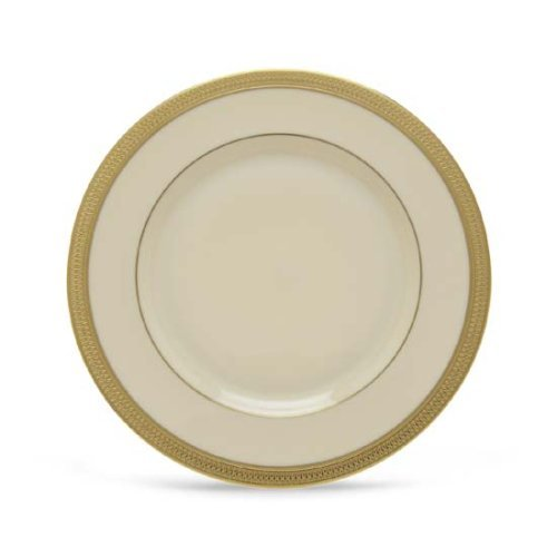 China Ivory Salad Banded Plate - Lenox Lowell Gold Banded Ivory China Salad Plate
