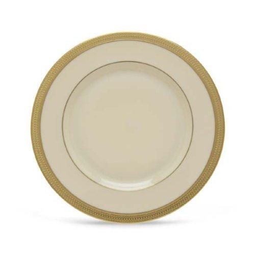 Lenox Lowell Gold Banded Ivory China Salad - Plate Salad Ivory Banded China