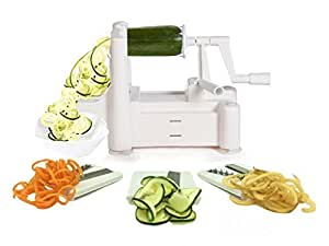 Fanhome Tri-Blade Vegetable Spiralizer for Low Carb/Paleo/Gluten-Free Meals