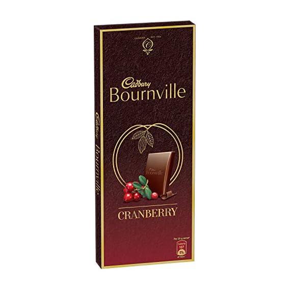 Cadbury Cranberry Dark Chocolate Bar, 80 g