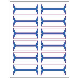 3/4'' H x 3-1/2'' W Blue Acme Abgor Compatible wrap-Around File Folder Labels (240 Labels/Pack) - TBBS-49401 by Tabbies