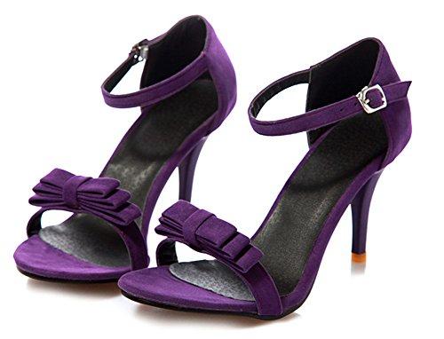 Cheville Orteil Noeud Sexy Violet Sandales Bride Femme Aisun pqIgWwfa
