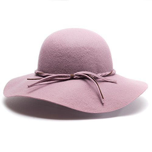 Free Spirit Floppy Hat with Braided Belt for Women & Girls - Lightweight & Versatile for all Seasons with 4 Colors - Perfect Gift for a Girlfriend, Sister, Mom, Daughter (Felt Sombrero)