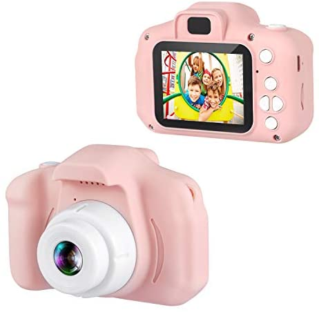 "Dartwood 1080p Digital Camera for Kids with 2"" Color Display Screen and Micro-SD Card Slot for Children (32GB SD Card Included) - Pink"