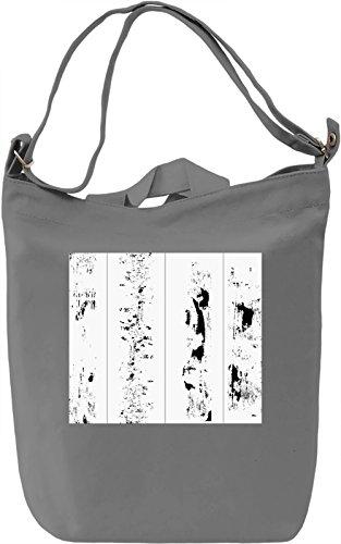 Black and White Pattern Borsa Giornaliera Canvas Canvas Day Bag| 100% Premium Cotton Canvas| DTG Printing|
