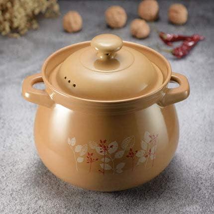 Casserole, pot en terre cuite, casserole en céramique à foyer ouvert, pot à soupe, ragoût, résistant aux hautes températures, pot de santé 3,2 à 9,5 L, cadeau-4.2L
