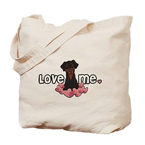CafePress–Love Me gamuza de dóberman–lona bolso, bolsa de la compra