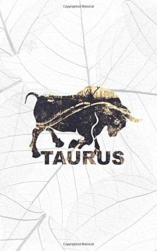 TAURUS: 5x8 lined journal diary notebook : Happy Birthday April 21 to May 21