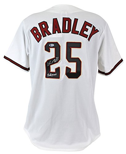 D-Backs Archie Bradley Hollywood Authentic Signed White Majestic Jersey BAS ()