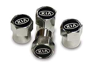 Kia metal cromado válvula de neumático tapón antipolvo