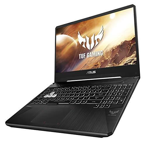 Asus TUF Gaming FX505DT-BQ051T Gaming Laptop (Black) - AMD R5-3550H 2.1Ghz, 8 GB RAM, 512 GB SSD, Nvidia Geforce GTX1650 4GB, 15.6 inches, Windows 10, Eng-Arb-KB