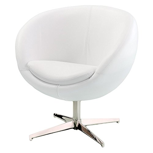 Best Selling Home Decor Modern White Leather Roundback Chair