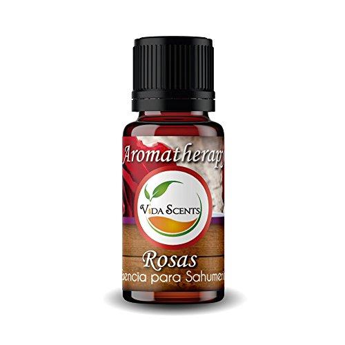 Aceite Esencial Aromaterapia Varios Aromas 100% puro y natural 10 Ml. (Rosas & Semilla de uva)