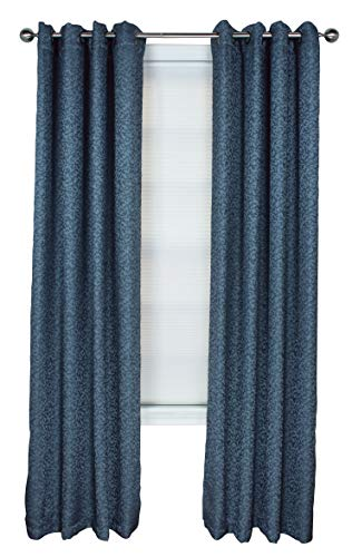 Polyester Boucle Yarn (Boucle Textured Grommet Curtain Panel (Teal, 50