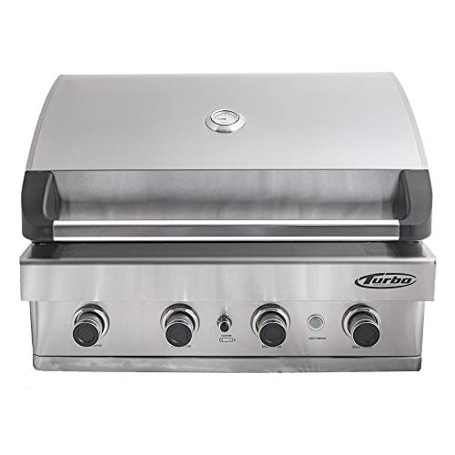 Barbeques Galore Turbo 4-Burner Built-in Gas Grill - Natural Gas (Gas Turbo Grill)