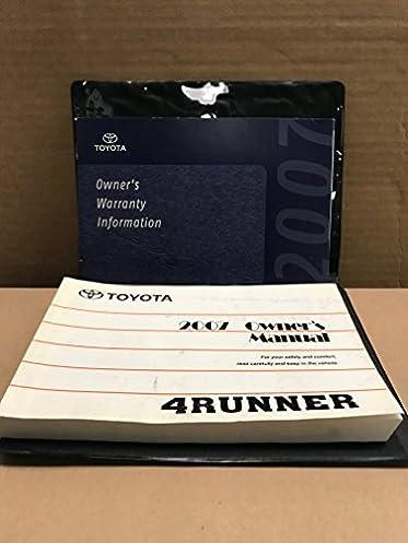 2007 toyota 4runner 4 runner owners manual amazon com books rh amazon com 2007 toyota 4runner sr5 owners manual 2010 toyota 4runner owners manual