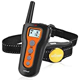 ieGeek Dog Training Collar, Rechargeable 990ft Remote Control Dog Training, Electronic Shock Dog Collar 3 Modes Beep|Vibration|Shock Waterproof Barking Collar for Small/Medium/Large Dogs
