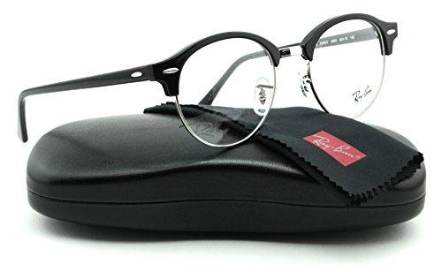 Ray-Ban RX4246V ClubRound Unisex Eyeglasses (Shiny Black Frame 2000, - Optics Clubround Ray Ban