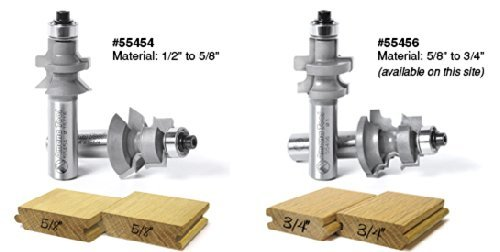 "Amana 55456 5/8""-3/4"" Flooring Router Bit Set with Nail Slot by Amana"
