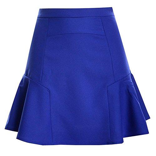 Patineuse Saphir Bleu Jupe Plisse Jupe Femme Mini Fishtail Short Stretch U8gTBxWwEq