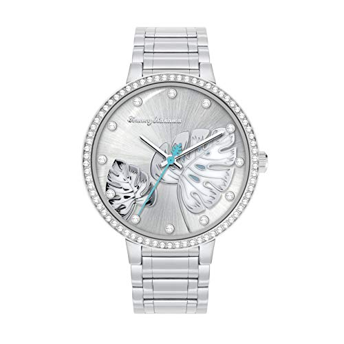 Tommy Bahama Women's Japanese Quartz Stainless Steel Strap, Silver, 16 Casual Watch (Model: 304367SLV040)