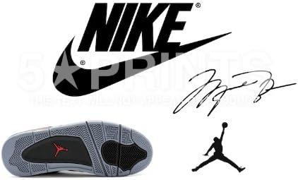 Exquisito Enjuiciar Estoy orgulloso  Póster de Michael Jordan Nike Air Jordan de la NBA Chicago Bulls firmado PP  30,5 x 20,3 cm: Amazon.es: Hogar
