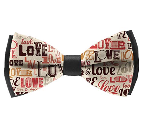 (L Wright-King Sweet Men Vintage Love Bow Tie Party Banquet Bowtie Wedding Accessories)