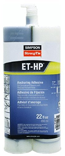 Simpson Strong Tie ETHP22 Epoxy Anchoring Adhesive 22-oz Dual Cartridge Simpson Strong-Tie
