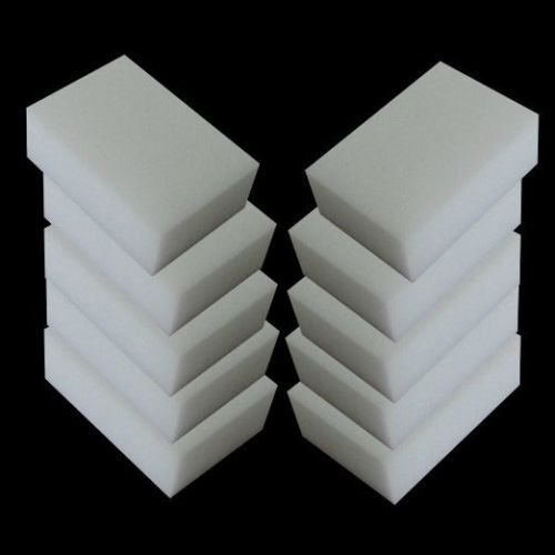 Melamine Sponge Magic Sponge Eraser Melamine Cleaner Eco-Friendly White Kitchen Magic Eraser 2015 New 10pcs/lot (Jane Iredale Flocked Sponge)