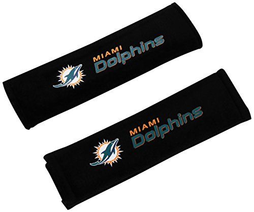 NFL Miami Dolphins Seat Belt Pad (Pack of 2) (Covers Miami Seat)