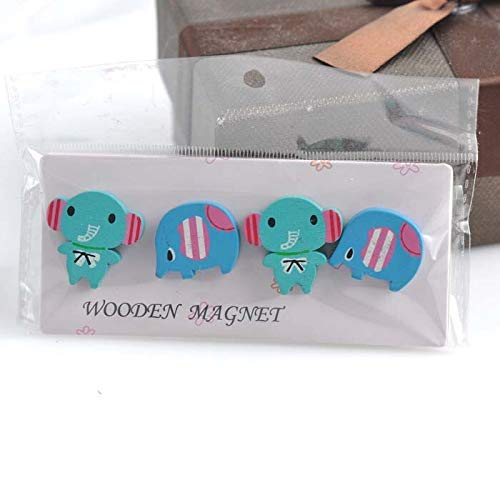 Magnetic Sticker - Cute Cartoon Wooden Fridge Magnetic Sticker Home Decoration 12pcs 3set 21x24mm Xd0318 - Electric ()