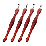 Practical Nail Art Tools Pedicure Cuticle Trimmer Remover Pusher Dead Skin Brown 4 Pack