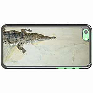 iPhone 5C Black Hardshell Case crocodile jaws small Desin Images Protector Back Cover